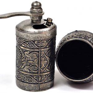 Osmanlı Armalı Karabiber ve Baharat Değirmeni Demir Renk