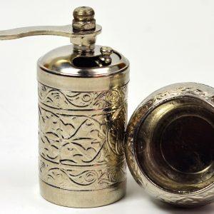 Osmanlı Armalı Karabiber ve Baharat Değirmeni Gümüş Renk