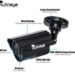 ahd 2mp camera 2.8mm hd dc12v auto eye güvenlik kamerası