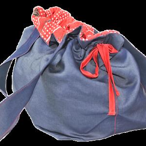 Kot Kumaşından El Yapımı Kadın El-Omuz Çantası