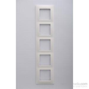 Legrand Salbei 5Li Çerçeve, Beyaz